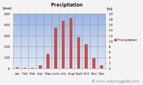 Average rainfall Coron