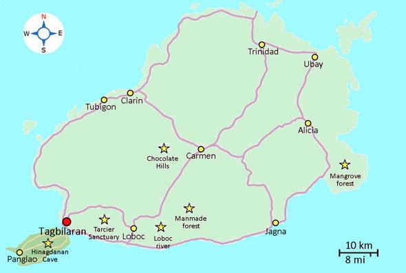 Map Bohol